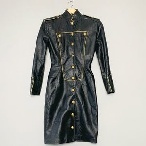 North beach leather 80s dress